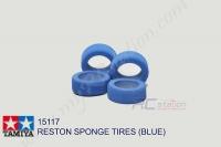 Tamiya  RESTON SPONGE TIRES (BLUE) #15117