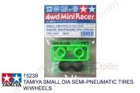 Tamiya  TAMIYA SMALL DIA SEMI-PNEUMATIC TIRES W/WHEELS #15239