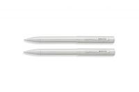 Franklin Covey FC0022-2 & FC0021-2 Greenwich Shiny Chrome Ballpoint Pen & Pencil Set