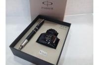 Parker IM Premium Matte Black Chrome Trim Fountain Pen