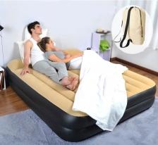 High Raise Inflatable Queen Air Bed Mattress With Pump