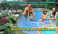 8ft See-Thru Kids Pool