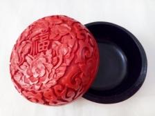 仿雕漆首飾盒(高樁福花蝶)Imitation of Chinese Carved Lacquerware Jewellery Box (Prosperity Flower & Butterfly)