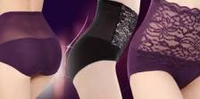 Stretchy High Waist Shaper Lace Brief Panties Underwear