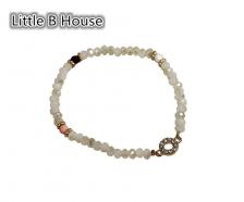 Monochromator Crystal Glass Beaded Bracelet - BC48