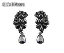 Bright Black Drop Earrings - ER103