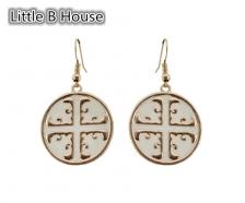 Chinese Style Circular Pendant Earrings - ER105