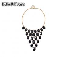 Black Mesh Short Necklace - NL101