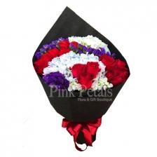 HB018 Roses & Hydrangea (Flower Bouquet)