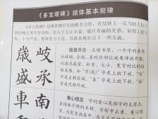 颜真卿《多宝塔碑》(原碑拓字放大版)Chinese Calligraphy Reference Book - Yan Zhen Qing 'Duo Bao Ta Bei'