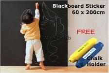 Blackboard Removable Vinyl Wall Sticker 60x200cm(Free 1 Chalk Holder)