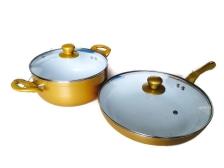 ASOTV Ceramic Gold 28cm Pan + 22cm Pot [Limited Collection]
