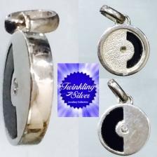 Fine 925 silver crystal pendant ( SCN0104B )