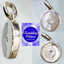 Fine 925 silver crystal pendant ( SCN0104WS )