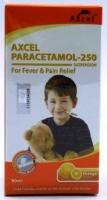 Axcel Paracetamol 250mg Orange Flavor 90ml (Reduce Fever)
