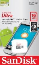 SanDisk Ultra SDSQUNB-016G-GN3MN 16GB 48MB/s UHS-I Class 10 microSDHC Card