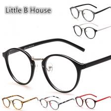 Retro Round Plain Glass Spectacles - SP02