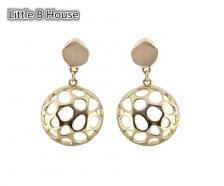 Gold Hollow Hemisphere Earrings - ER123