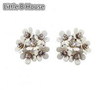 Creamy White Flower Cluster Earrings - ER131