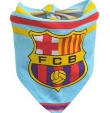 Soccer Team Logo Triangle Baby bib