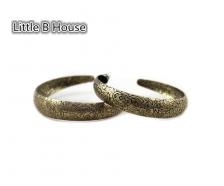 Retro Golden Ring Engraved Earrings