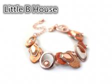 Textured Copper Drip Section Bracelet