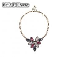 Acryl Color Lotus Petals Retro Short Necklace