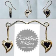 Fine 925 Silver Crystal Earring ( SCER0029B )
