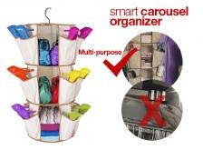 3-Tiers Smart Carousel Organizer