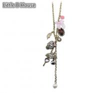 Mixed colour Skeletons Pendant Alloy Short Necklace 40cm - NL149