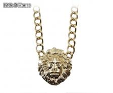 Gold Colour Relief Portrait Alloy Short Necklace 40cm - NL167