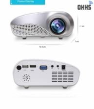 [1 Year Warranty ] OHHS RD802 HDMI VGA SD USB LED Mini Projector - FREE Tripod Stand