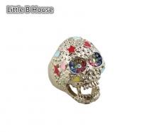 Multicolour Retro Skeleton Alloy Ring 1.7cm - R09