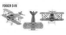3d Architecture Metalic Nano (Fokker D-V11)