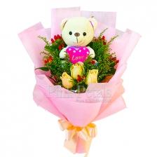 ST051 Bear & Roses