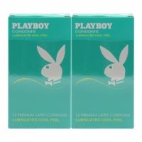 2 Boxes Playboy Lubricated Cool Feels Condom / Kondom 12pcs