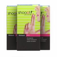3 Boxes SHOOOT RIBBED Condom / Kondom 12's