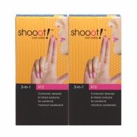 2 Boxes SHOOOT 3 in 1 Condom / Kondom 12's