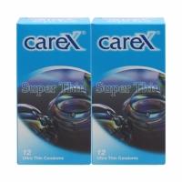 2 Boxes Carex Super Thin Condoms 12 pcs