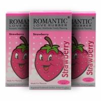3 Boxes Romantic Love Rubber Aroma -Strawberry - 12's
