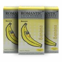 3 boxes Romantic Love Rubber Aroma - Banana- 12's