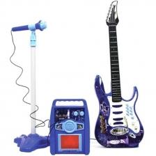 Kids Guitar Toy Amplifier & Microphone Kids toy Karaoke - Blue