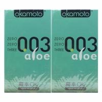 2 Boxes OKAMOTO 003 ALOE CONDOM 6'S PACK