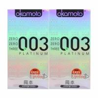 2 Boxes OKAMOTO ZERO ZERO THREE PLATINUM CONDOM 10's PACK