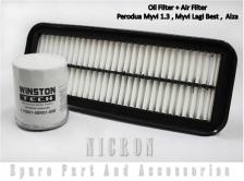 Air Filter + Oil filter(1set)-Perodua Myvi 1.3 , Myvi lagi Best , Alza