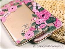 Fresh Flowers iPhone 6/6s korean style thin transparent phone casing