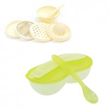New Peanut Shape Feeding Bowl With Spoon Cum Baby Food Making Set -BKM16+yphb-Y26503