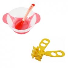 Baby Food Supplement Temperature Sensor Sucker Bowl Cum Multifunctional Baby Food Scissors -BKM14+AP1305