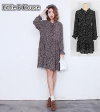 Flouncing Long-sleeve Mini Dress -LY6157