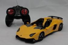 DX 1:24 Lamborghini Aventador J Yellow Remote Control Car NEW GIFT